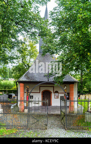 Chapel of St. Bartholomew,  876AD, Wiesenbach, St. Vith, Ostbelgien (Cantons de l'Est), Belgium - Stock Photo