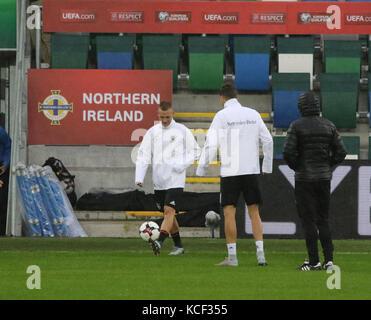 Belfast, UK. 4th Oct, 2017. National Football Stadium at Windsor Park Belfast Northern, Ireland. 04th Oct, 2017. - Stock Photo