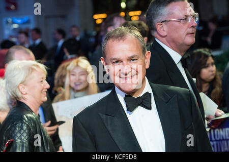 London, UK. 4th October 2017. Hugh Bonneville arrives for the UK film premiere of Breathe at Odeon Leicester Square - Stock Photo