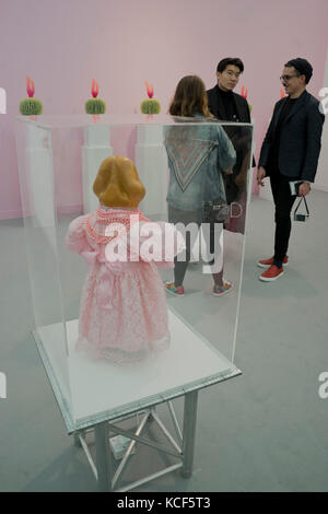 London, UK. 4th Oct, 2017. Opening day of the Frieze International Arts Fair at Regent's Park, London, UK. Credit: - Stock Photo