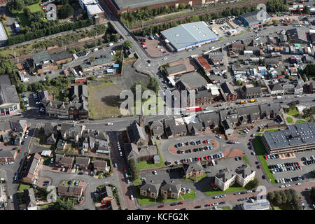 aerial view of the A721 main street in Motherwell, Scotland, UK - Stock Photo