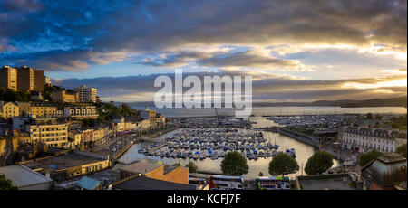 GB - DEVON: Torquay Harbour and Town - Stock Photo