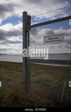 Oldbury disused Nuclear Power Station - Stock Photo