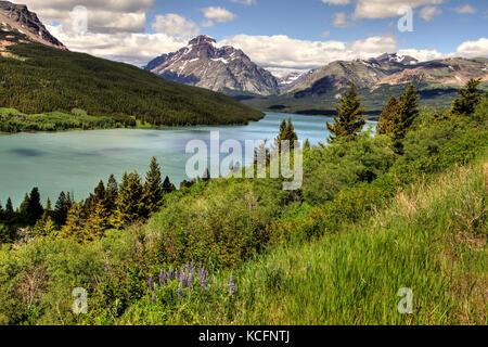 Glacier National Park, Montana, USA - Stock Photo