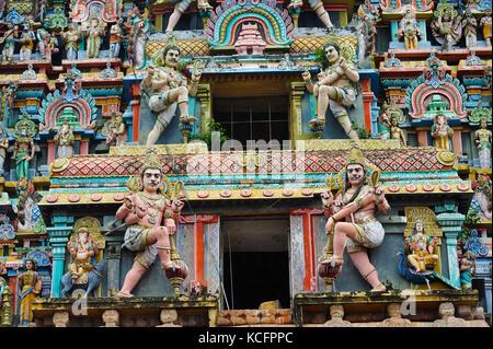 Nataraja Temple with detail of Hindu god Shiva, Chidambaram, Tamil Nadu, India - Stock Photo