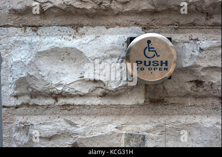 Disabled entry trigger - Stock Photo