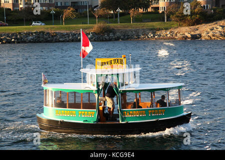 the harbour ferry in Victoria BC, Canada - Stock Photo