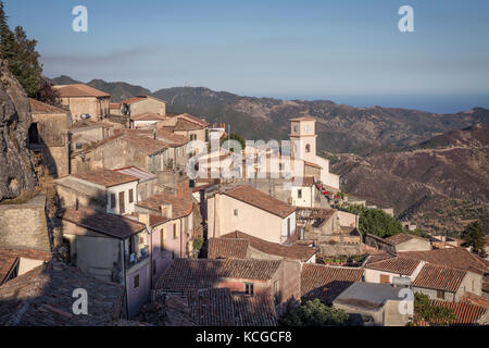 The hilltop village of Bova, Calabria, Italy. - Stock Photo
