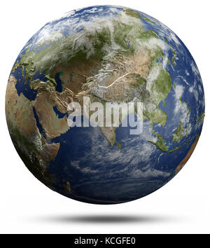 Earth globe - Asia 3d rendering - Stock Photo