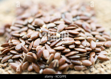 Flax seeds detail - Stock Photo
