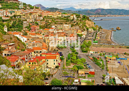 Vietri Sul Mare, Salerno, at the eastern end of the Amalfi Coast in southern Italy. - Stock Photo
