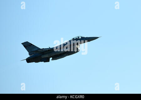 U.S. Air Force F-16 Fighting Falcon fighter jets from the South Carolina Air National Guard's 169th Fighter Wing - Stock Photo