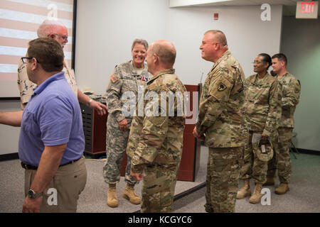 U.S. Army Maj. Gen. Robert E. Livingston, Jr., the Adjutant General for South Carolina National Guard, and U.S. - Stock Photo