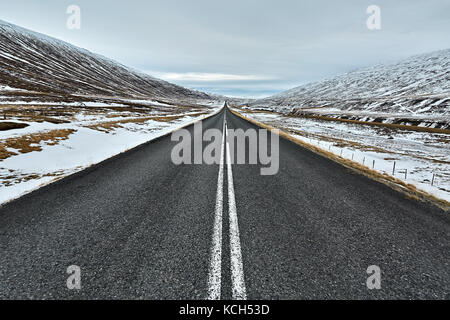 Country roadway in Iceland - Stock Photo