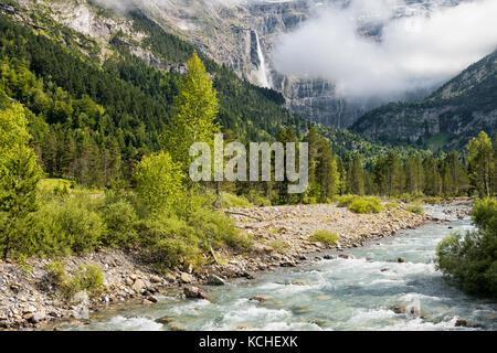 river in gavarnie - Stock Photo