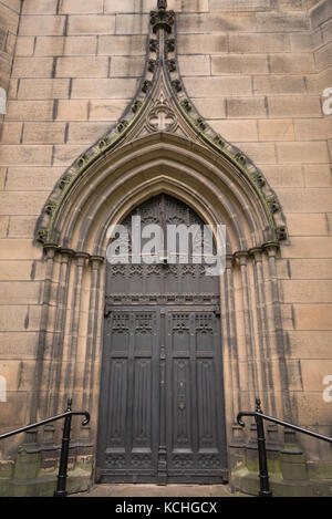 ... Doors of Serbian Orthodox Church of St. George in Leicester England. - Stock & Serbian Orthodox Church in Leicester England Stock Photo: 152942311 ...