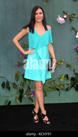 Sep 06, 2017 - Linzi Stoppard attending 'Mother!' UK Premiere, Odeon Leicester Square in London, England, UK - Stock Photo