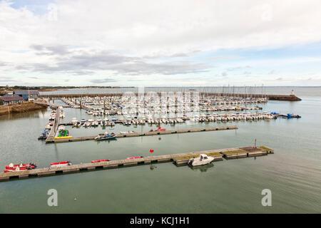 Marina of Port Haliguen on Quiberon peninsula in Morbihan department, Brittany, France - Stock Photo