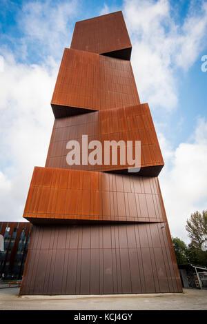The Award winning Broadcasting Tower, part of Leeds Becket University, Leeds, West Yorkshire, England - Stock Photo