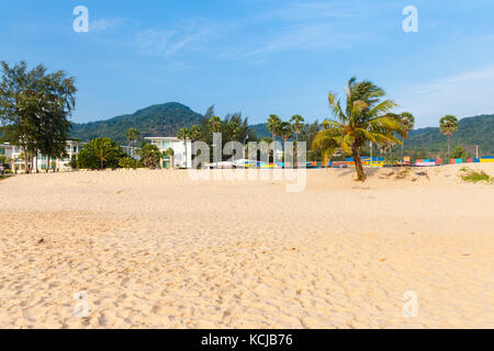 Phuket, Thailand - April 17, 2016: Daytime view of the Karon Beach on April 17, 2016 in Phuket, Thailand - Stock Photo