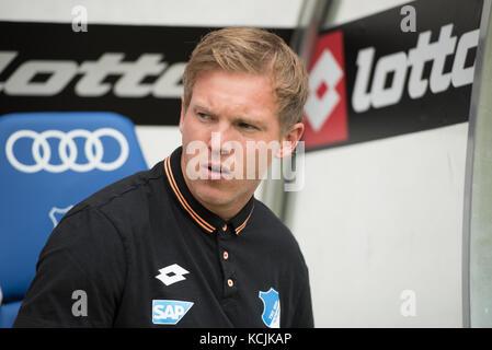 Sinsheim, GER - August 05, TSG Hoffenheim - FC Bologna, Saisoneröffnung, Rhein-Neckar-Arena . Im Bild: Cheftrainer - Stock Photo