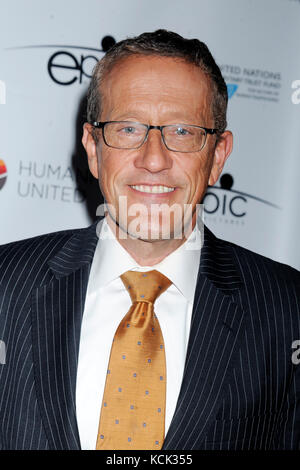 New York, USA. 05th Oct, 2017. Richard Quest attends the 'Trafficked' premiere at United Nations Office on October - Stock Photo