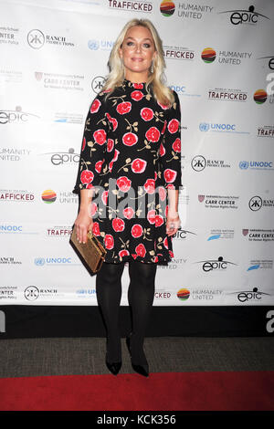 New York, USA. 05th Oct, 2017. Elisabeth Röhm attends the 'Trafficked' premiere at United Nations Office on October - Stock Photo