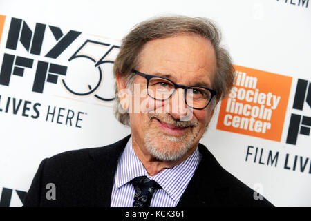 New York, USA. 5th Oct, 2017. Steven Spielberg attends the 'Spielberg' premiere during the 55th New York Film Festival - Stock Photo
