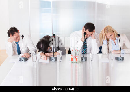 Bored Business People In The Conference Meeting - Stock Photo