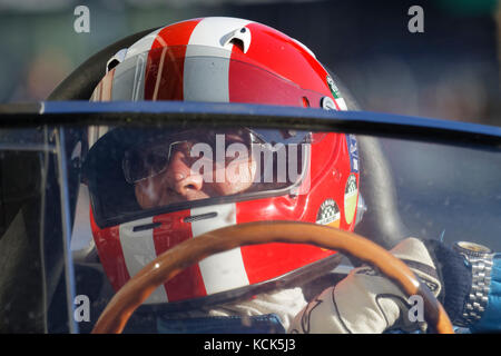 LE MANS, FRANCE, July 9, 2016 : Driver during Le Mans Classic on the circuit of the 24 hours. No other event in - Stock Photo