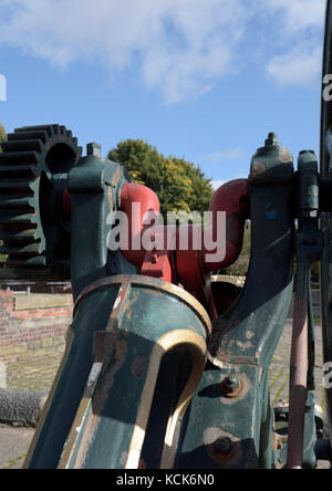 Old mill machinery at burrs country park bury lancashire uk - Stock Photo