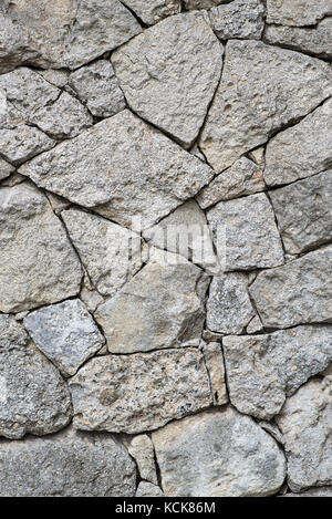 The wall is faced with stone, Ukraine - Stock Photo