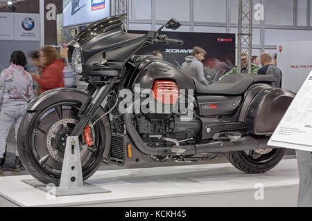 BRNO, CZECH REPUBLIC-MARCH 4,2016: Motorcycle Moto Guzzi MGX-21 on International Fair for Motorcycles on March 4,2016 - Stock Photo