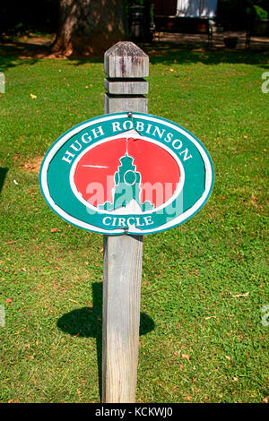 Hugh Robinson Circle sign in Murfreesboro, TN, USA - Stock Photo