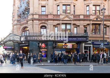 The Hippodrome Casino at Leicester Square on Charing Cross Road, London, England, UK - Stock Photo