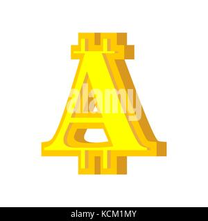 A letter bitcoin font. Cryptocurrency alphabet. Lettering virtual money. Vector illustration - Stock Photo