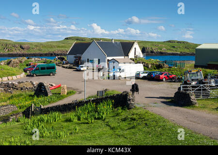 The Galmisdale Café and Bar at Galmisdale Point on the Isle of Eigg, Scotland, UK - Stock Photo