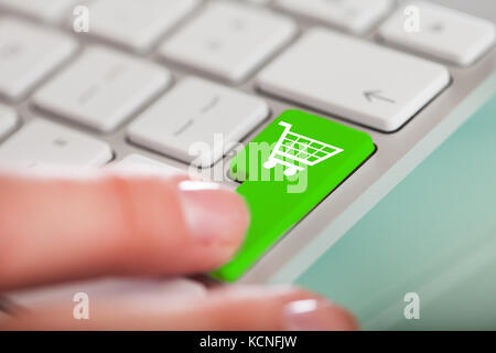click button online shopping on a computer key board stock photo royalty free image 23758402. Black Bedroom Furniture Sets. Home Design Ideas