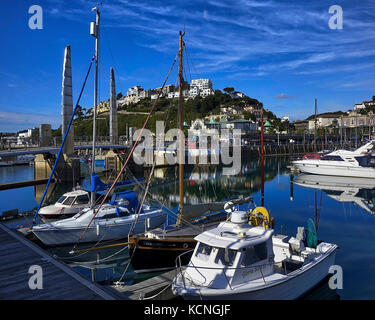 GB - DEVON: Torquay Harbour and Town - Stock Photo