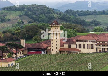 Miolo winery, Vale dos Vinhedos, Rio Grande do Sul, Brazil - Stock Photo