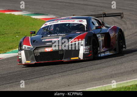 Mugello Circuit, Italy. 6th Oct, 2017. AUDI R8 LMS AUDI SPORT Italia Team driven by GHIRELLI Vittorio - TRELUYER - Stock Photo