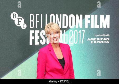 London, UK. 6th Oct, 2017. Emma Thompson, The Meyerowitz Stories - BFI LFF UK Premiere, Embankment Garden Cinema, - Stock Photo