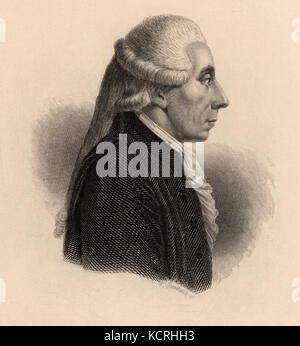 Jean Sylvain Bailly  French astronomer and politician . - Stock Photo
