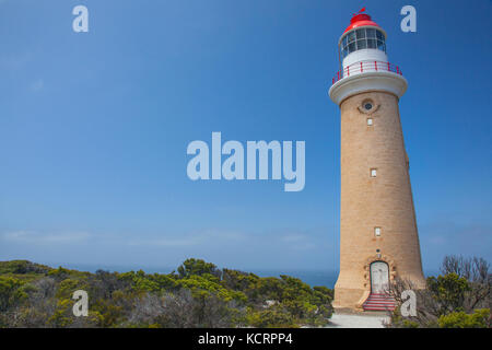 Cape de Couedic Lighthouse at Flinders Chase National Park a protected area located at the west end of Kangaroo - Stock Photo