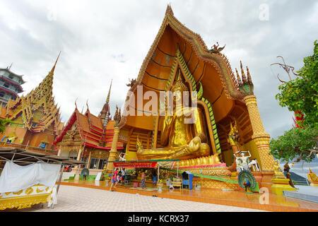 KANCHANABURI, THAILAND - July 7, 2017: Wat Tham Sua is the most beautiful temple in Kanchanaburi, Thailand. July - Stock Photo