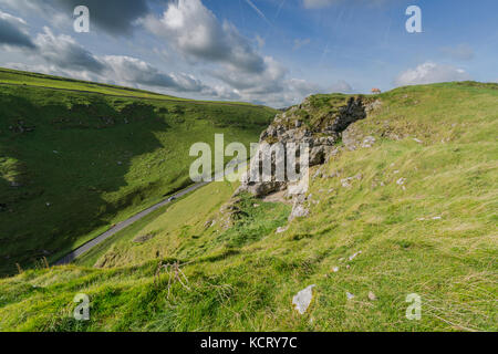 Winnats Pass Peak District National Park - Stock Photo