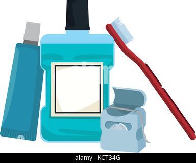 Dental hygiene products - Stock Photo