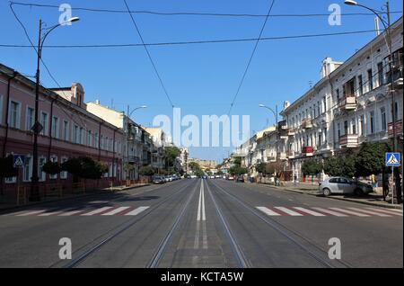 street in Odessa Ukraine - Stock Photo