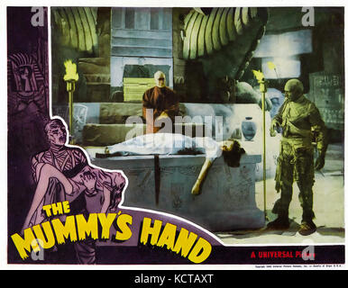 THE MUMMY'S HAND 1940 Universal Studios horror film with Peggy Moran - Stock Photo