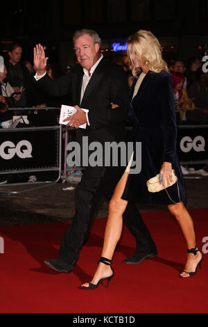 The GQ Men of the Year Awards 2017 - Arrivals  Featuring: Jeremy Clarkson, Lisa Hogan Where: London, United Kingdom - Stock Photo